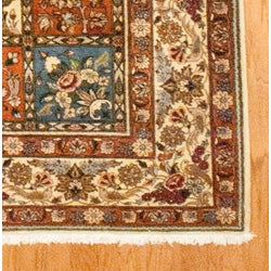 Persian Hand-knotted Baktiari Ivory Wool Rug (6'10 x 9'7)