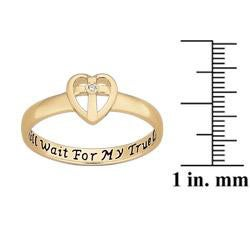 Sterling Silver Diamond Accent Purity Sentiment Ring - Thumbnail 2