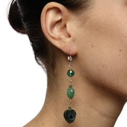 Lola's Jewelry Sterling Silver Gemstone and Crystal Earrings - Thumbnail 2
