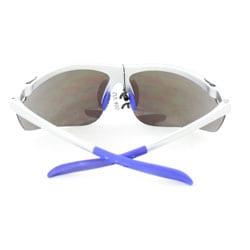 Men's White Wrap Sport Sunglasses