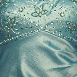 Ignite Evenings Women's Green Beaded Cap-sleeve Dress - Thumbnail 2