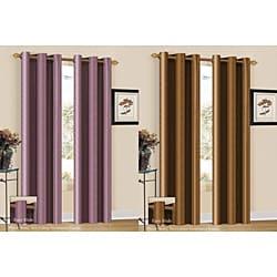 Aubrey Stripe 84-inch Curtain Panel - Thumbnail 2