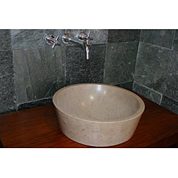 Concrete Full Moon Beige Sink - Thumbnail 2