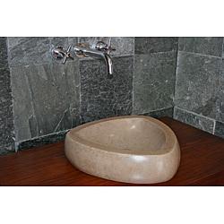 Concrete Triangle Beige Sink