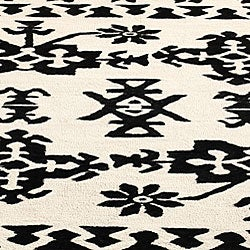 nuLOOM Handmade Moda Tribal New Zealand Wool Rug (7'6 x 9'6) - Thumbnail 2