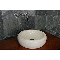 Concrete Round Cream Sink - Thumbnail 2