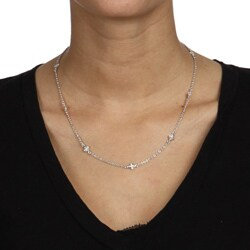 Crystale Silvertone Turquiose Stone Necklace