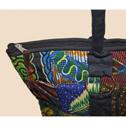 Quilted Zippered Original Patchwork Tote (Kenya) - Thumbnail 2