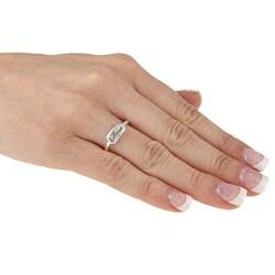 Samara Sterling Silver 'Hope' Ring - Thumbnail 2