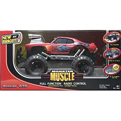New Bright 1:15 Scale Red Monster Muscle Pontiac GTO RC Car