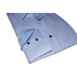 Domani Blue Label Men's Blue Dress Shirt