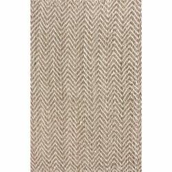 nuLOOM Handmade Restoration Living Wool and Jute Rug (4' x 6') - Thumbnail 2