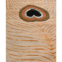 nuLOOM Handmade Handspun Peacock Wool Rug (7'6 x 9'6) - Thumbnail 2