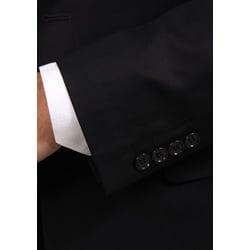 Ferrecci Men's Two-button Black Peak Lapel Suit - Thumbnail 2