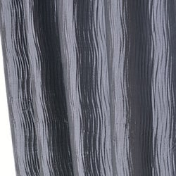 Exclusive Fabrics Silver/ Grey Textured Faux Silk Jacquard 96-inch Curtain Panel