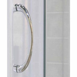 DreamLine Infinity Frosted Glass 60x72 Shower Door/ 30x60-inch Amazon Shower Base - Thumbnail 2