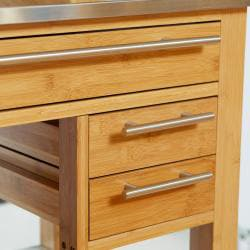 Wooden Kitchen Island With Stainless Steel Top Free