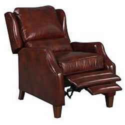 New Creations Ellison Red/ Brick Classic Recliner - Thumbnail 2