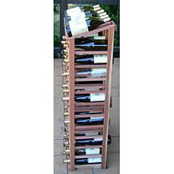 Redwood 72 Bottle Wine Display Rack - Thumbnail 2