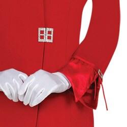 Divine Apparel Women's Missy Satin Trimmed Asymmetrical Collar Skirt Suit - Thumbnail 2