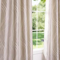 Exclusive Fabrics Grommet Sand Dune Faux Silk 106-inch Curtain Panel - Thumbnail 2