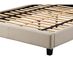Sarajevo Beige Fabric Queen Platform Bed