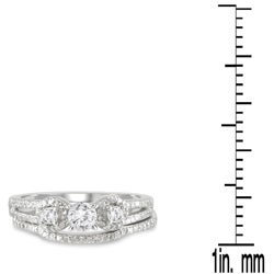 Marquee Jewels 10k White Gold 3/4ct TDW Diamond Bridal Ring Set (I-J, I1-I2) - Thumbnail 2