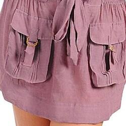 Stanzino Women's Plus Size Plum Pocket Dress - Thumbnail 2