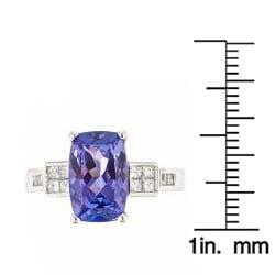 D'Yach 14k Gold Tanzanite and 1/3ct TDW Diamond Ring (G-H, I1-I2)