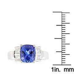 D'Yach 18k Gold Tanzanite and 1/2ct TDW Diamond Ring (G-H, I1-I2) - Thumbnail 2