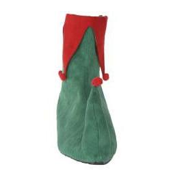 Pleaser Men's Green/ Red Side-zip Microfiber Christmas Elf Boots