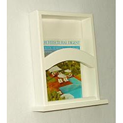 On-the-wall Magazine Rack with Base - Thumbnail 2