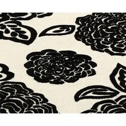 nuLOOM Handmade Moda Floral New Zealand Wool Rug (7'6 x 9'6) - Thumbnail 2