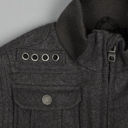 Sean John Boy's Wool 4-pocket Bomber Jacket