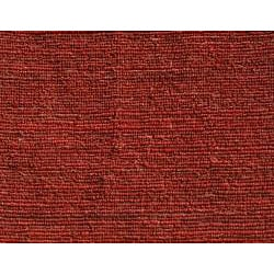 Hand-woven Red Jute Rug (5' x 8')