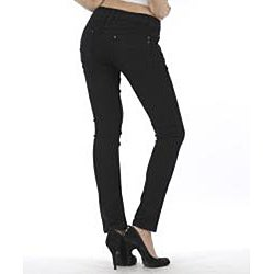 MDZ Women's 'Olivia' Black Skinny Denim Jeans - Thumbnail 2