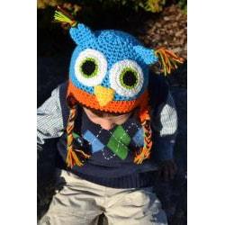 WhooHats Boy's Owl Crochet Hat - Thumbnail 2