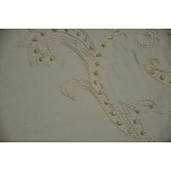 Angelina 84-inch Ivory Embroidered Silk Drapery Panel - Thumbnail 2
