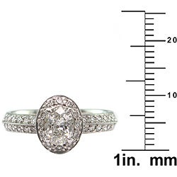 14k Gold 1ct TDW Certified Clarity-Enhanced Diamond Engagement Ring (H-I, SI2) - Thumbnail 2