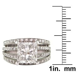 18k White Gold Certified 4 3/4ct TDW Clarity-enhanced Diamond Ring - Thumbnail 2