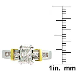 14k Gold 7/8ct TDW Certified Clarity-enhanced Diamond Engagement Ring (G-H,SI2 ) - Thumbnail 2