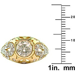 14k White Gold 1 1/2ct TDW Certified Clarity-Enhanced Diamond Engagement Ring (H-I,SI2 ) - Thumbnail 2
