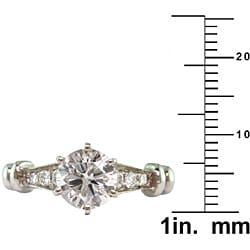 14k White Gold 1 2/5ct TDW Certified Clarity-Enhanced Round Diamond Engagement Ring (G,SI2 )