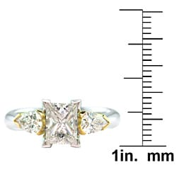 14k White Gold 1 3/4ct TDW Certified Clarity-Enhanced Princess-Cut Diamond Engagement Ring (I,VS2 )