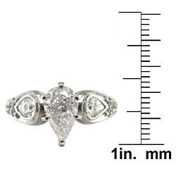 14k White Gold 1 3/4ct TDW Certified Clarity-Enhanced Diamond Engagement Ring (G-H,VS2 )