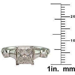 14k White Gold 2 1/2ct TDW Certified Clarity-Enhanced Diamond Engagement Ring (H-I,SI2) - Thumbnail 2