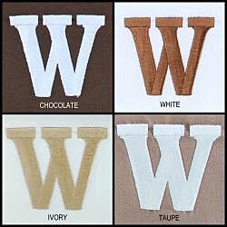 Egyptian Cotton 300 Thread Count Solid Block 'W' Monogram Sheet Set - Thumbnail 2