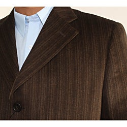 Ferrecci Men's Brown Wool-blend Coat - Thumbnail 2
