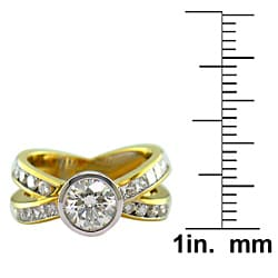 18k Gold 2 3/4ct TDW Certified Clarity-Enhanced Diamond Engagement Ring (I-J, VS2) - Thumbnail 2