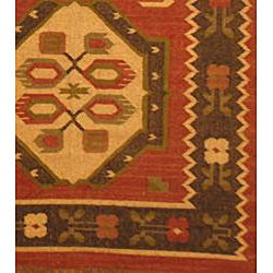 Indo Tribal Kilim Wool Rug (4' x 6') - Thumbnail 2